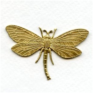 Dragonfly in Awesome Detail Solid Raw Brass Stamping