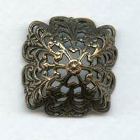 Filigree Bowl Shape fits 18mm Stones Oxidized Brass
