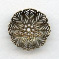 ^Bowl Shaped Round Filigree Oxidized Brass (3)