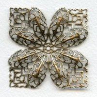 Four Points Large Filigree Oxidized Brass 53mm (1)