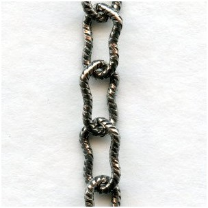Peanut Chain 7.5x4mm Links Antique Silver (3 ft)
