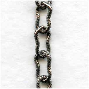 Peanut Chain 7.5x4mm Links Oxidized Silver (3 ft)