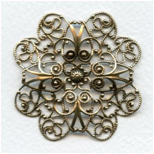 Ornate 49mm Filigree Oxidized Brass (1)