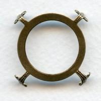 Turtle Settings Open Back 30mm Oxidized Brass (3)