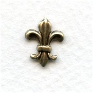 Fleur-de-Lis Embellishments Oxidized Brass (12)
