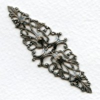 Elegant Ripple Filigree Stamping Oxidized Silver (1)