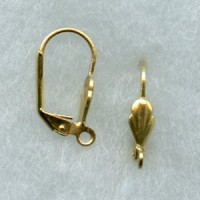 Lever Back Shell Earring Finding Raw Brass (24)