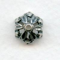 Elegant Gothic Style Bead Caps Oxidized Silver 8mm (6)