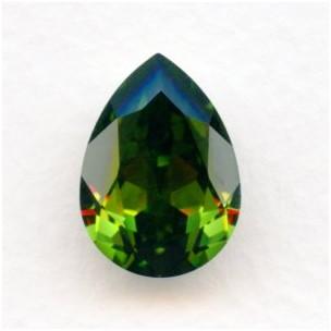 Olivine Swarovski Pear Article 4320 18x13mm