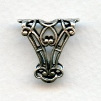 Romantic Filigree Bail Oxidized Silver 18mm (1)