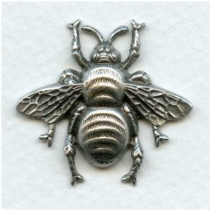 Bumblebee Stampings 31mm Oxidized Silver (3)