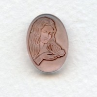 Girl with Butterfly Glass Cameo Rosaline 18x13mm