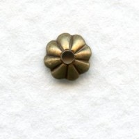 Fluted Bead Caps Oxidized Brass 5mm Excellent! (50)