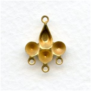 ^Cluster Settings 23x13mm Raw Brass (12)