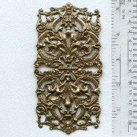 Most Grand of All Oxidized Brass Stamping 5+ Inches (1)