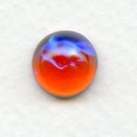 Dragon Breath Mexican Opal Glass Cabochons 11mm (2)