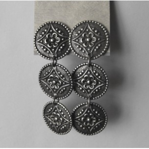 ^Fifty, not Frumpy Earrings Oxidized Silver (1 Pair)