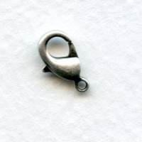 Small Lobster Claw Clasps 12mm Oxidized Silver (12)