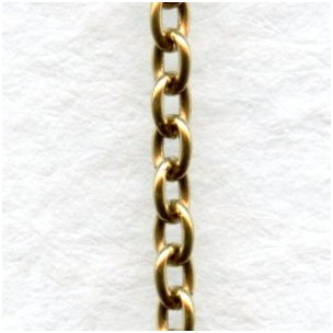 Itty Bitty Cable Chain Antique Gold 2mm Links (3 ft)