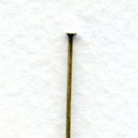 Standard 21 Gauge Head Pins 3 Inches Oxidized Brass