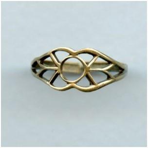Open Filigree Design Finger Ring Oxidized Brass (1)