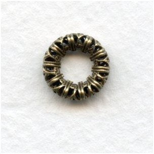 Filigree Ring Link Connector Oxidized Brass (3)