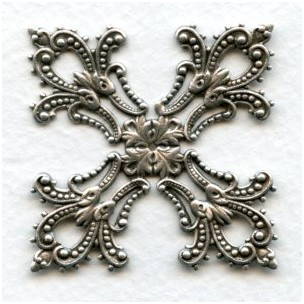 Maltese Cross Stamping Oxidized Silver (1)