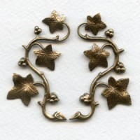 Vines with Berries Oxidized Brass 57mm (1 Set)
