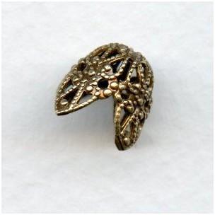 Fancy Filigree Bead Caps Oxidized Brass 11mm (12)