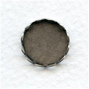 Lace Edge Settings 13mm Oxidized Silver (12)
