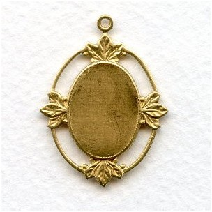 Floating Leaves Settings 18x13mm Raw Brass (4)