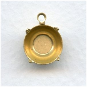 Round 10mm Setting Pendant Raw Brass (12)