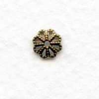 Flower Shaped 6mm Oxidized Brass Filigree Bead Caps (50)