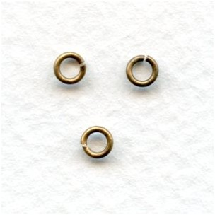 Tiny Jump Rings Round 3mm Oxidized Brass