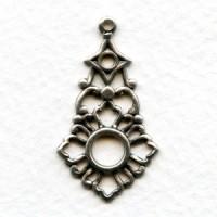 Openwork Pendant Drops Oxidized Silver (6)