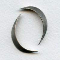 ^Long Slender Leaf Shapes Oxidized Silver 35mm (4)