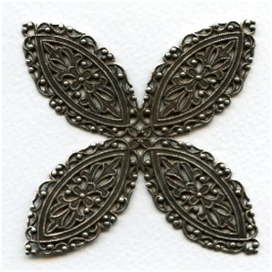 ^Splendiferious Filigree Stamping Oxidized Silver 68mm