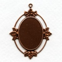 Floating Leaves Settings 25x18mm Oxidized Copper (3)