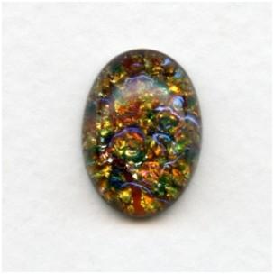 Multi-Color Glass Opal Cabochon 18x13mm (1)