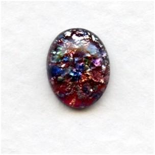 Multi Color Glass Opal Cabochons Handmade 10x8mm