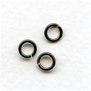 Round Jump Rings 5.8mm Oxidized Brass (100+)