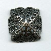 ^Filigree Bowl Shape Fits 18mm Stones Oxidized Silver