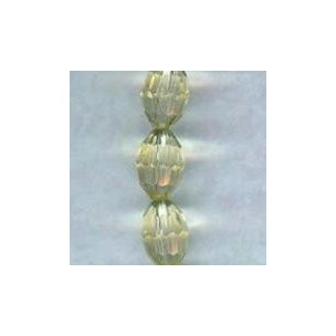 Oval Faceted Glass Beads Jonquil 11x8mm