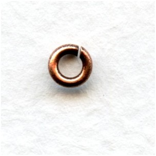 Heavy 18 Gauge 4.4mm Round Jump Rings Oxidized Copper (50)