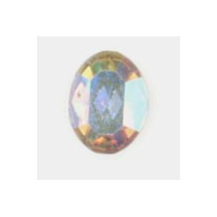 ^Oval Crystal AB Foiled Back Preciosa Rhinestones 8x6mm