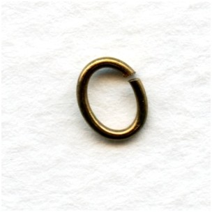 Oval Jump Rings Oxidized Brass 7x5mm (100)