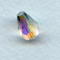 Crystal AB Machine Cut Glass Pear Shape Beads 13x9mm (12)
