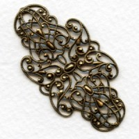Splendid German Filigree Delicate Details Oxidized Brass (1)