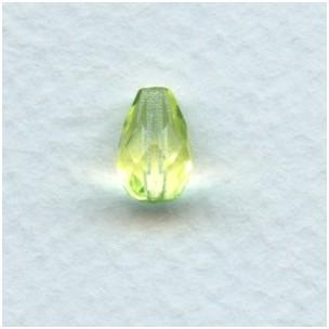Jonquil Czech Glass Pear Shape Beads 10x7mm (24)
