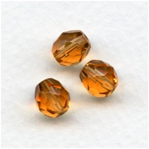 Goldfish Fire Polished Round Faceted Beads 8mm